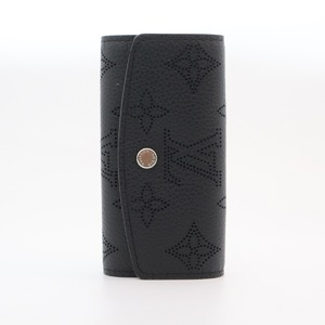 Louis Vuitton Mahina Multicle 4 Unisex Mahina Leather Key Case Logo Noir