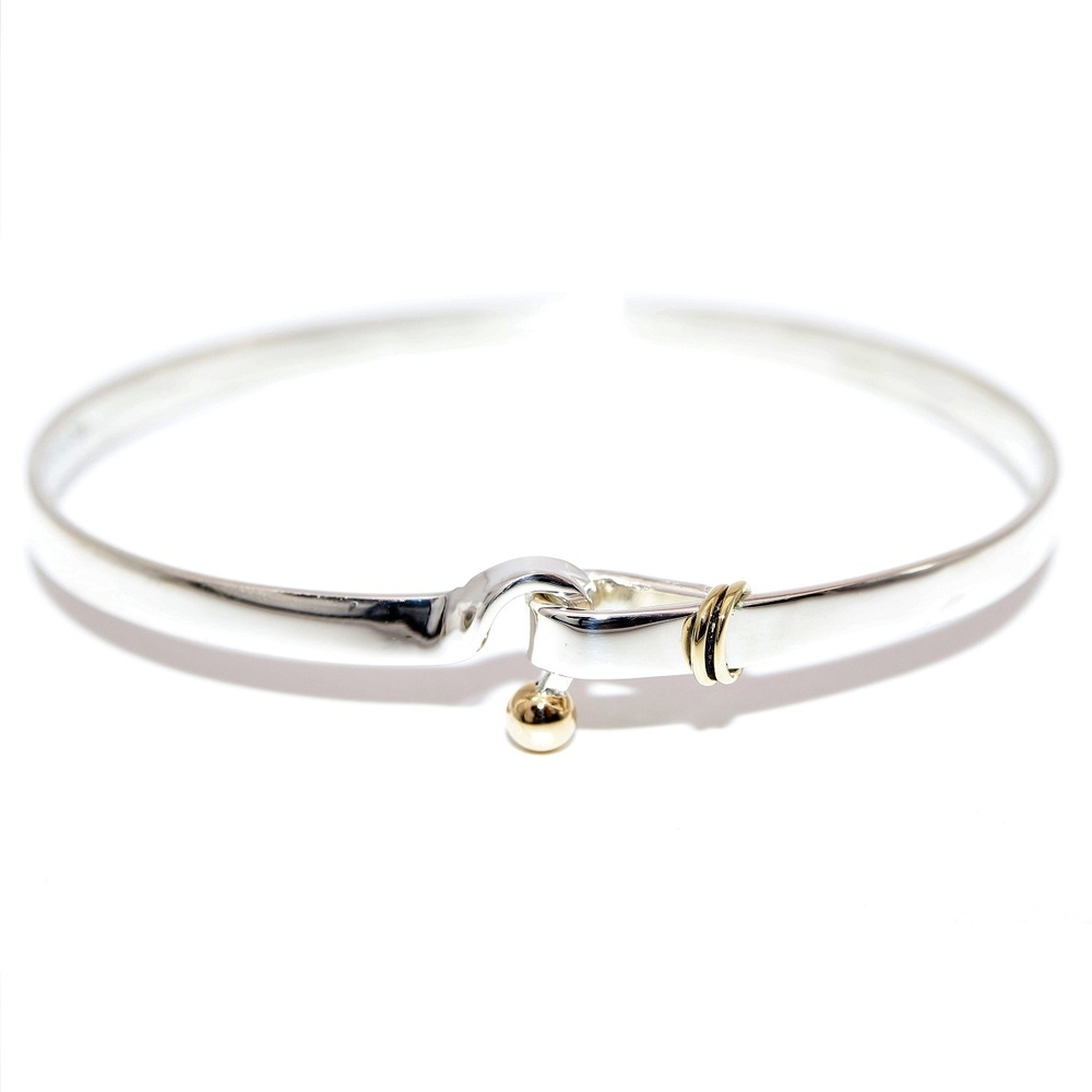 Tiffany Wire Silver 925,Yellow Gold (18K) Link Bracelet Silver,Yellow Gold  | eLady com