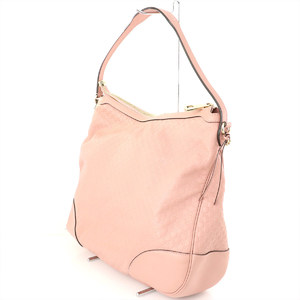 Gucci GUCCI Shima Line Pink Leather One Shoulder Bag 449244 Women