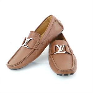ルイ・ヴィトン(Louis Vuitton) ルイヴィトン LOUIS VUITTON スリッポン レザー ブラウン メンズ 【hon】【中古】