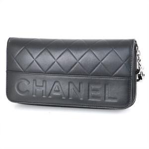 シャネル(Chanel) シャネル CHANEL ブラック マトラッセ ラムスキン A30071 長財布 レディース 【sa】【中古】