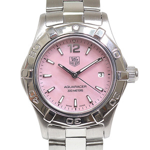 TAG HEUER Heuer Ladies Watch Aqua Racer WAF1418 Pink Shell Dial Quartz