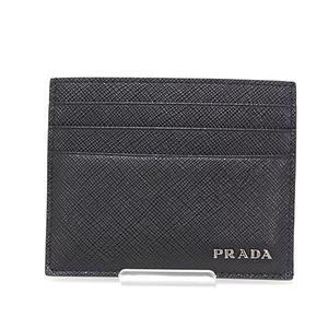 Prada PRADA Safiano leather card case SAFFIANO BICOLO black gray 2MC223 business holder