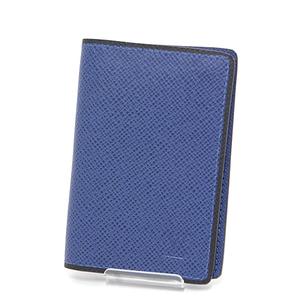 Louis Vuitton LOUIS VUITTON Organizer ・ de Poche Taiga Blue Black Card Case M30551 business card holder as new