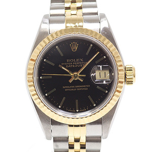 ROLEX Rolex Ladies Watch Datejust 69173 Black (Black) Dial Number C (made in 1992) OH