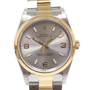 ROLEX Rolex Men's Watch Oyster Perpetual 14203 Gray Dial P No. 2000 (made in OH) OH