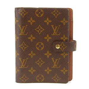 Genuine LOUIS VUITTON Louis Vuitton Monogram Agenda MM Notebook R20004