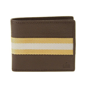 Genuine Gucci Leather Bifold Wallet Brown 231845