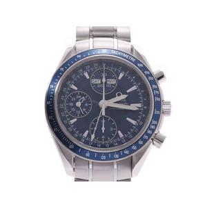 オメガ スピードマスター デイト 青文字盤 3222.80 メンズ SS 自動巻 腕時計 Aランク 美品 OMEGA 中古 銀蔵