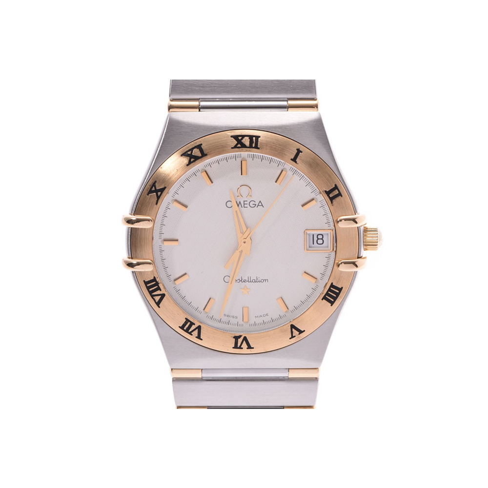 オメガ コンステレーション シルバー系文字盤 1312.30 レディース YG/SS クォーツ 腕時計 ABランク 美品 OMEGA 中古 銀蔵
