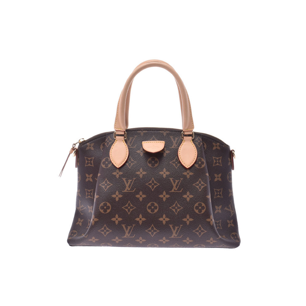 e9a29ab804e Louis Vuitton Monogram Reverie PM Brown M44543 Ladies Genuine Leather 2 WAY  Handbag New Dope Beauty Product LOUIS VUITTON Strap with Used Silver ...