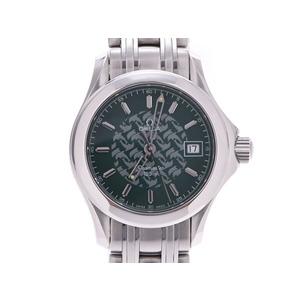 オメガ シーマスター ジャックマイヨール2586.70 グリーン文字盤 2500本限定 SS クオーツ レディース 腕時計 OMEGA