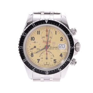 Tudor Chrono Time Tiger Ivory Dial 79270 Mens SS Automatic Watch A Rank TUDOR Used Ginzo
