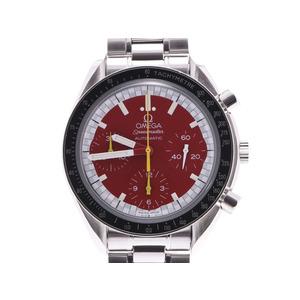 オメガ スピードマスター 3510.61 シューマッハ レッド文字盤 メンズ SS 自動巻 腕時計 Aランク 美品 OMEGA 中古 銀蔵