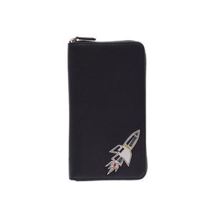 プラダ(Prada) プラダ ジッピーオーガナイザー ロケット 黒 2ML188 メンズ レディース サフィアーノ 長財布 未使用 美品 PRADA 箱 ギャラ 中古 銀蔵