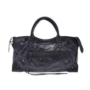 Balenciaga Part Time Black Ladies Calf 2WAY Handbag