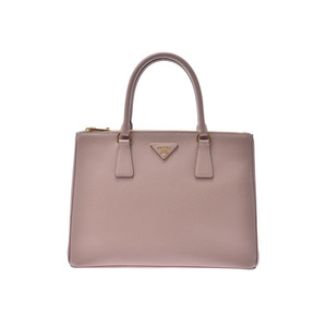 Prada Karelia 2WAY Handbag Pink Beige 1BA 274 Ladies