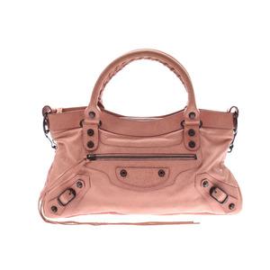 Balenciaga First Pink Ladies Leather 2WAY Handbag
