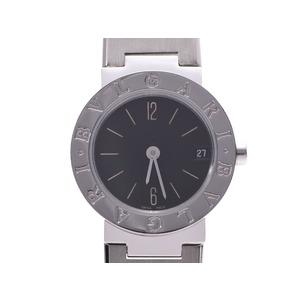 ブルガリ ブルガリブルガリ23 黒文字盤 BB23SS レディース SS クオーツ 腕時計 Aランク BVLGARI 中古 銀蔵