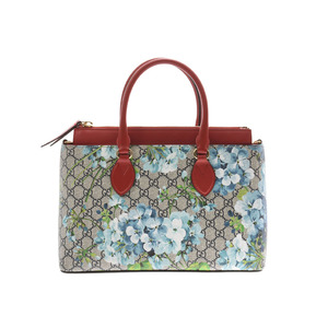 Gucci GG Supreme 2 WAY Handbag Flower Pattern Women's A rank good item GUCCI with strap Used Ginzo