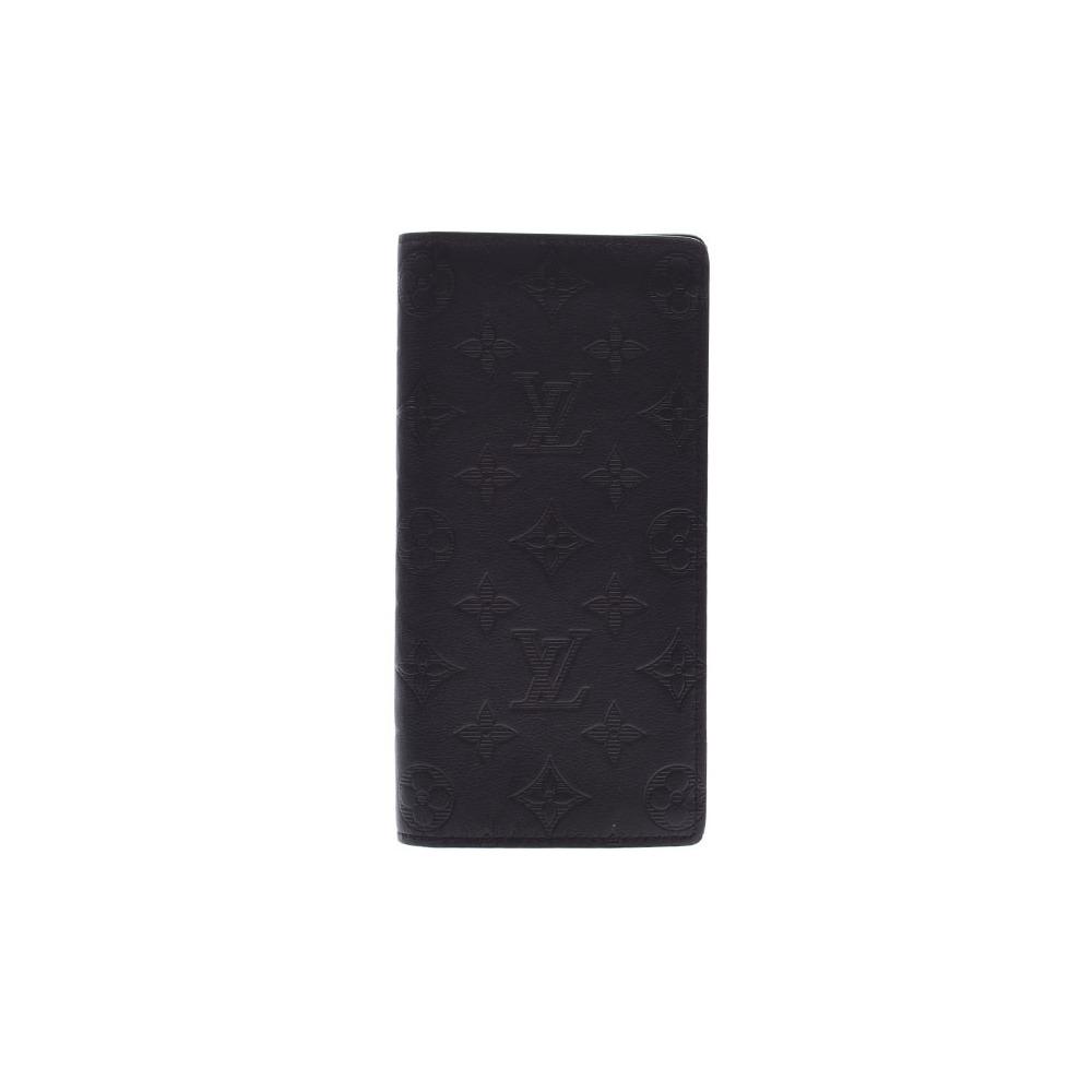timeless design 284d3 eece0 ルイ・ヴィトン(Louis Vuitton) ルイヴィトン モノグラムシャドウ ポルトフォイユ ブラザ 黒 M62900 メンズ 本革 長財布  Aランク 美品 LOUIS VUITTON 中古 銀蔵 | eLady.com