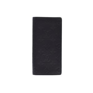 ルイ・ヴィトン(Louis Vuitton) ルイヴィトン モノグラムシャドウ ポルトフォイユ ブラザ 黒 M62900 メンズ 本革 長財布 Aランク 美品 LOUIS VUITTON 中古 銀蔵