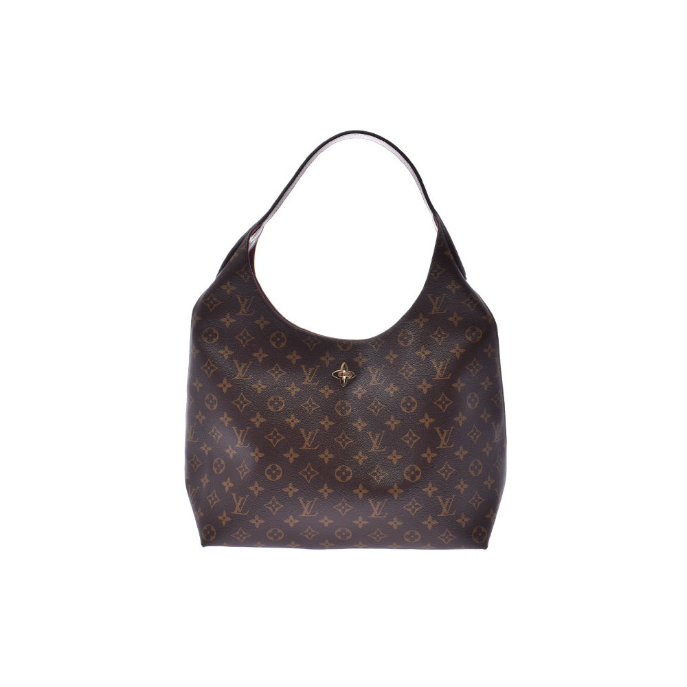 6bcacf28234 Louis Vuitton Monogram Flower Hobo Bordeaux M43547 Women's Genuine Leather  One-shoulder Bag New Dope Beauty Product LOUIS VUITTON Used Ginzo | ...