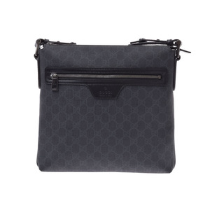 Gucci GG Supreme Shoulder Bag Black PVC AB Rank GUCCI Used Ginzo