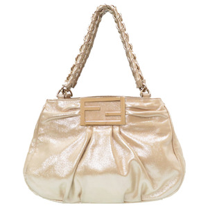 Fendi Chain Bag One Shoulder Coated Canvas Champagne Gold 0088 FENDI