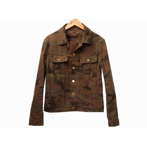 Like new Louis Vuitton Supreme Denim tracker Burn jacket 1A3FKZ Camouflage 44 men's 0150 LOUIS VUITTON