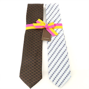 Louis Vuitton 2 tie set 100% silk