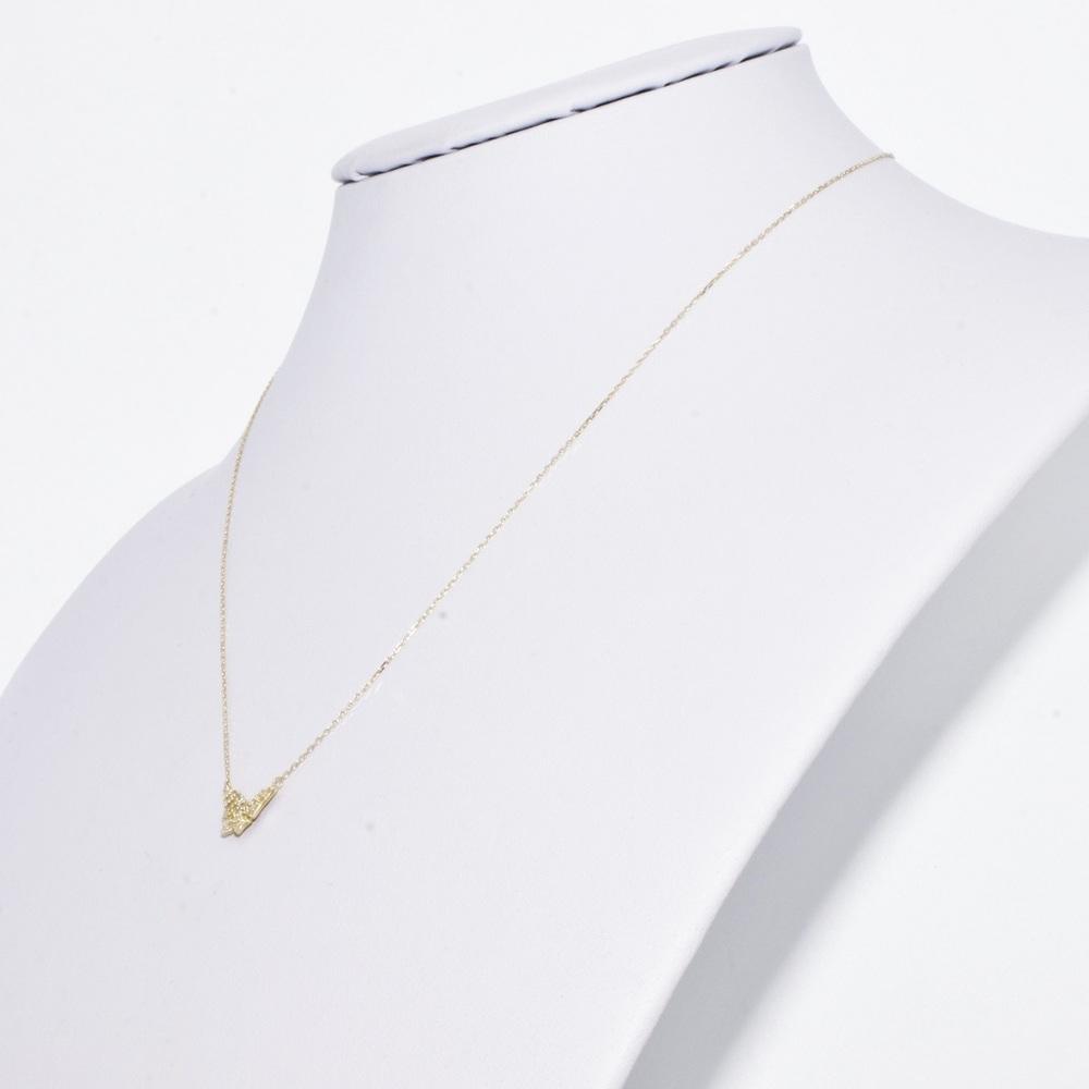 アガット(Agete) K18イエローゴールド(K18YG) ダイヤモンド レディース カジュアル ペンダント (イエローゴールド(YG)) バタフライパヴェ
