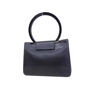 Salvatore Ferragamo ferragamo gancini handle vintage handbag leather black 20190719