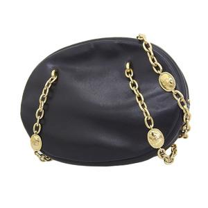 ChristianDior Christian Dior Vintage Chain Shoulder Bag Leather Black 20190719