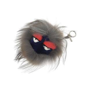 FENDI Fendi bag Bugs monster charm fur key holder multi-color gray 20190705