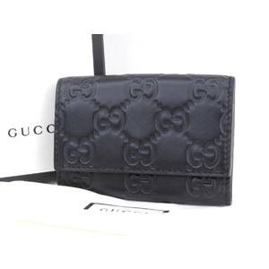 GUCCI Gucci signature Guccisima GG pattern 6 consecutive key case leather black 20190719
