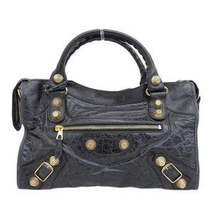 BALENCIAGA Balenciaga BALENCIAGA Giant City Handbag Black Gold 173084