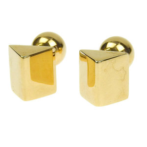 Tiffany TIFFANY & Co. K14YG Cufflinks Gold * JL