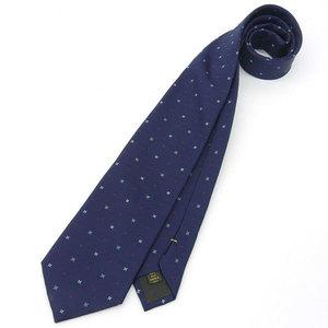 Louis Vuitton silk monogram flower tie navy * ETC