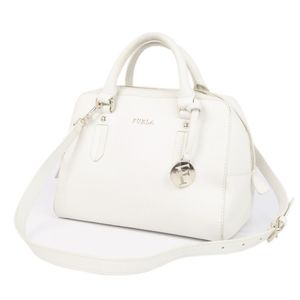 Furla FURLA Women's 2way Shoulder Bag Handbag Leather 鞄 White