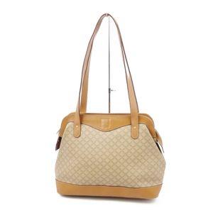 Vintage Celine CELINE Made in Italy Macadam PVC Leather Semi Shoulder Bag Handbag Beige Brown