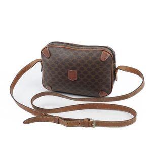 Vintage Celine CELINE Macadam PVC Ladies Shoulder Bag Brown