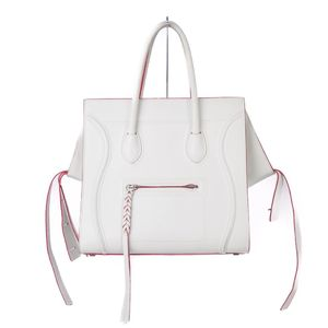 Celine CELINE Smooth Scarf Luggage Phantom Tote Bag Handbag White Red Ladies bag made in Italy