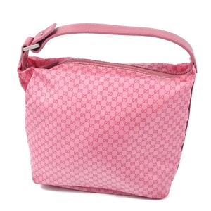 Gucci GUCCI Women's Micro GG Nylon Canvas Leather Mini Handbag Pouch Pink Italian 鞄 Bag