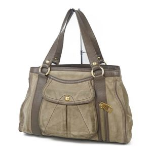 Celine CELINE suede leather semi-shoulder bag handbag macadam brown