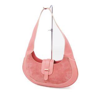 Loewe LOEWE Suede Leather Semi-shoulder Bag Handbag Ladies Navy Pink