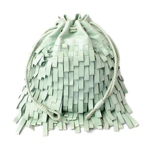 Bottega Veneta Handbag Accessory pouch BOTTEGA VENETA limited release Drawstring Fringe LAKE GREEN Green 115674 V1801 4900