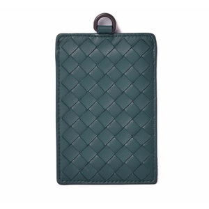 Bottega Veneta Card Case Pass BOTTEGA VENETA Intrechart Nappa Petrol Blue 415855