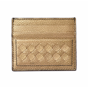Bottega Veneta Card Case Business Holder BOTTEGA VENETA Intrecciato Nappa Gold 162150