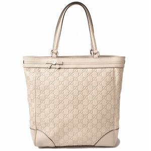 Gucci tote bag handbag GUCCI Guccisima leather ivory 257062